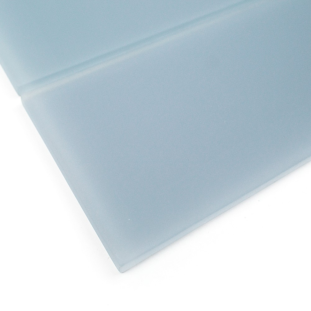 Shop For Loft Blue Gray Frosted 4 X 12 Glass Tiles At Tilebar Com