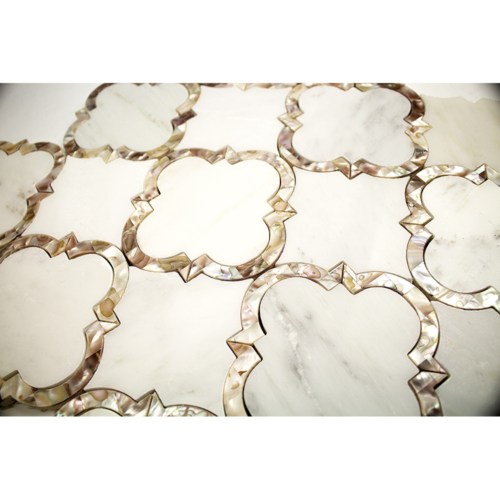 Cassie Chapman Eva Marble And Pearl Tile