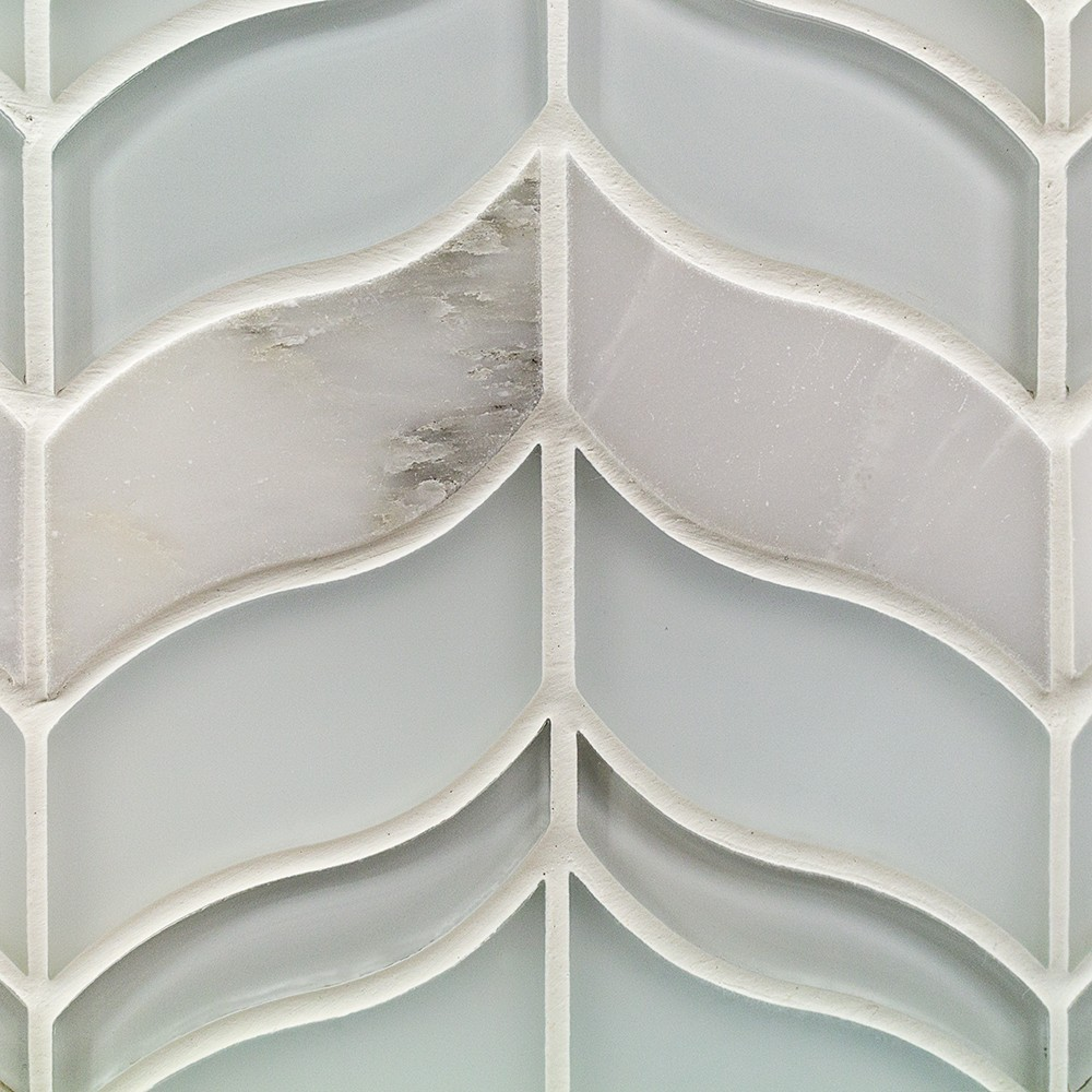 Chantilly Lace Marble And Glass Tile Tilebar Com