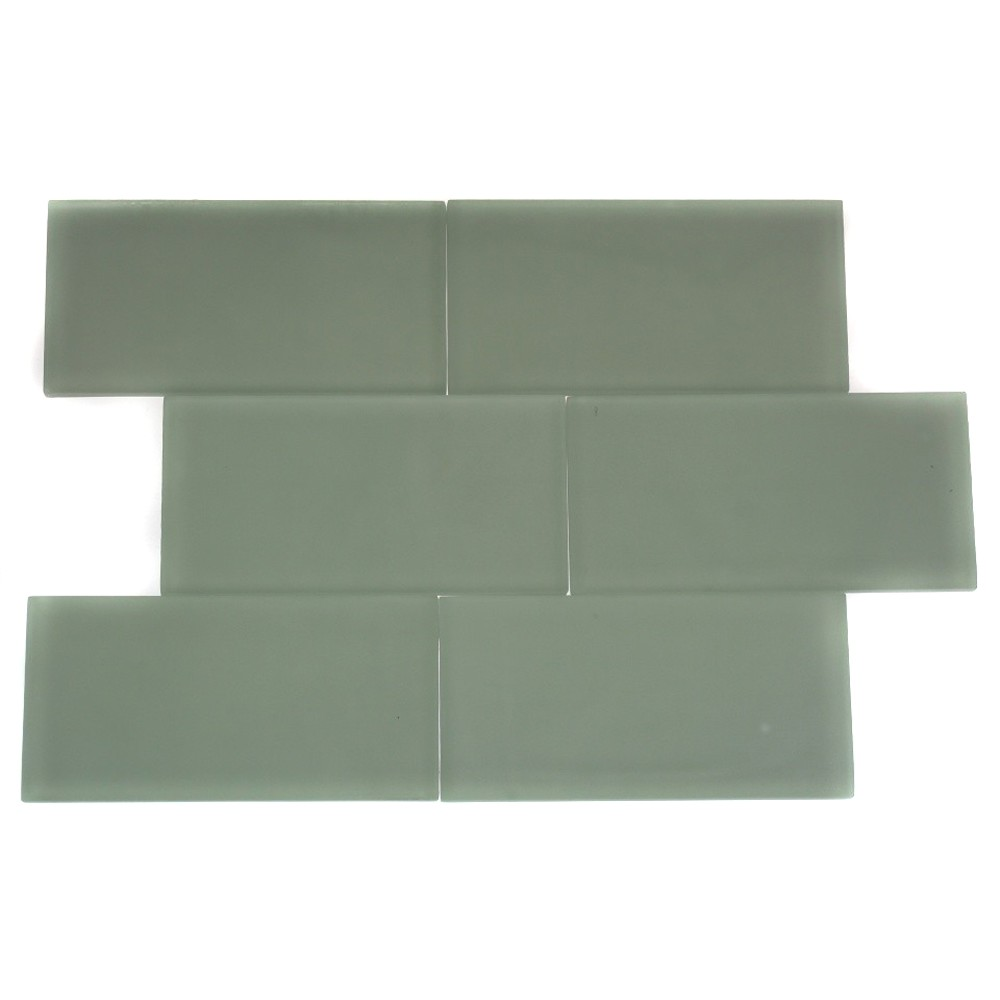 Shop For Loft Seafoam Frosted 3 X 6 Glass Tiles At Tilebar Com