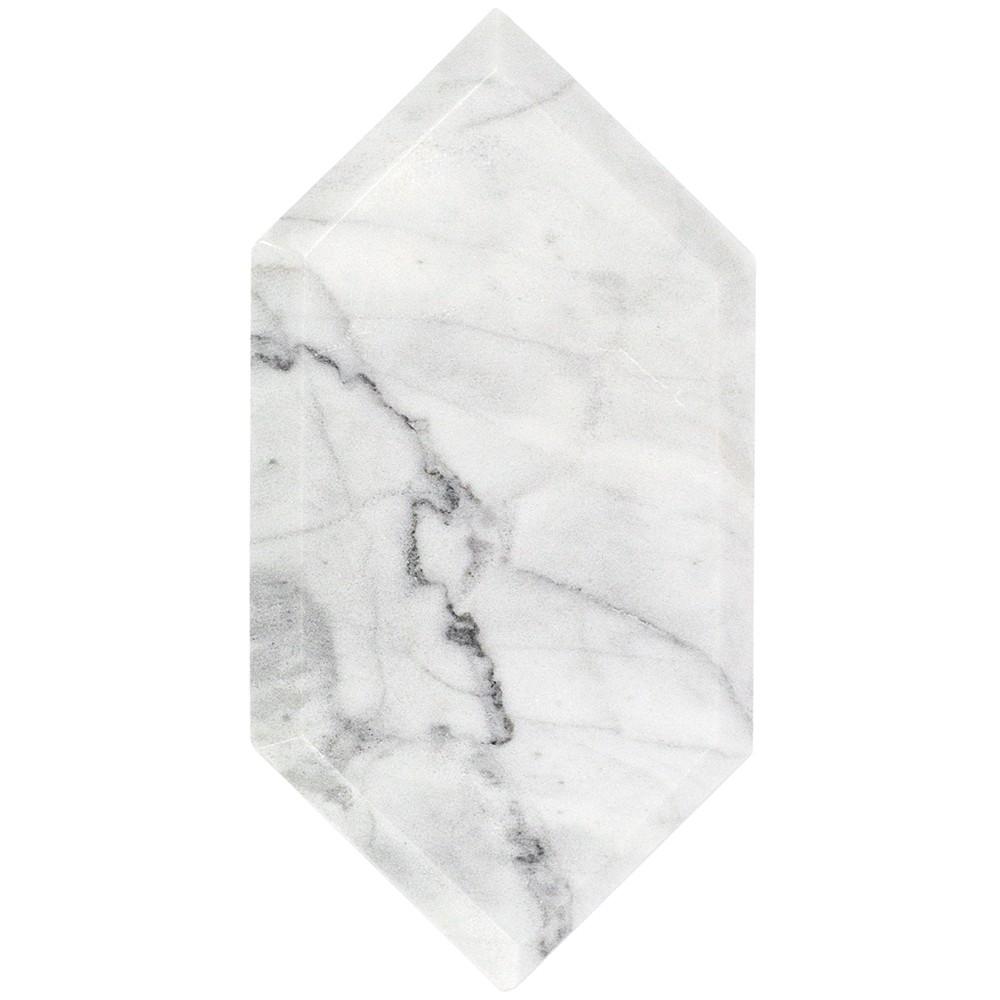 Shop For Beveled White Carrara Hexagon Polished Marble