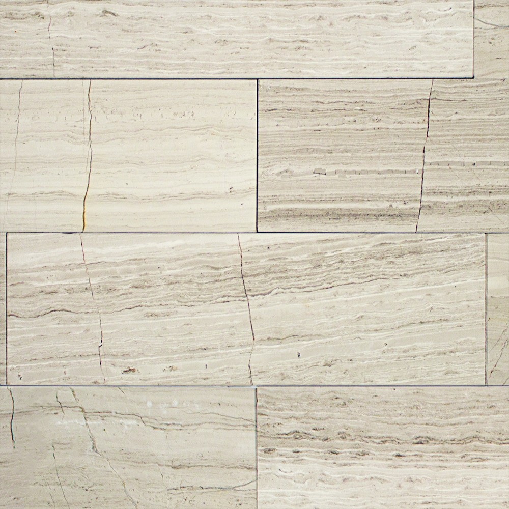 Shop 4x12 Wooden Beige Honed Stone Tile In Athens Gray At