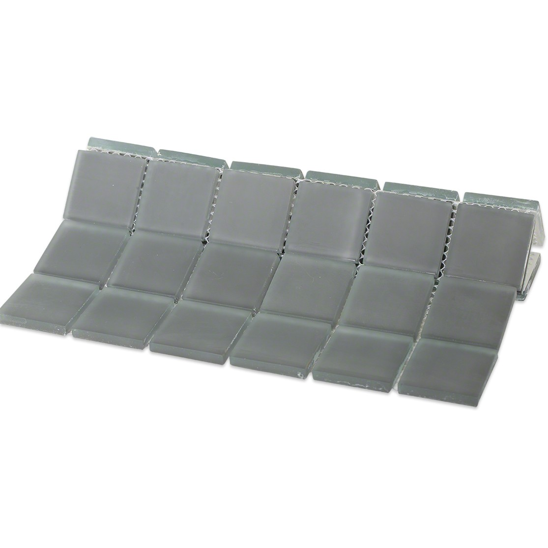 Shop For Loft Ash Gray Polished 2x2 Glass Tile At Tilebar Com