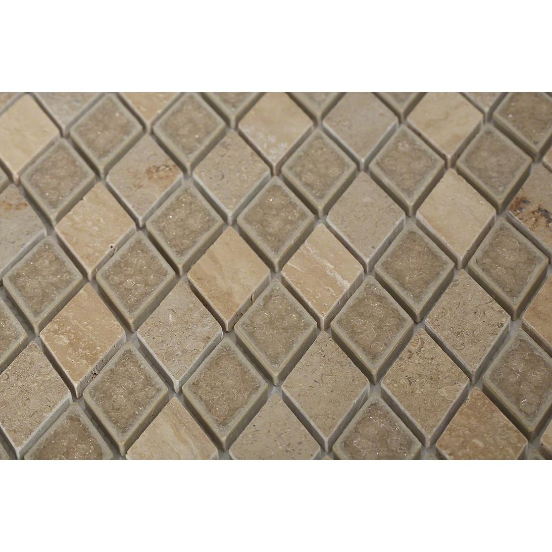 Shop 12x12 Roman Collection Desert Tan Diamond Mosaic In A