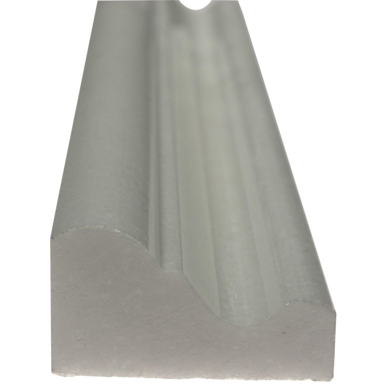 White thassos marble 2x12 chair rail molding Honed |Thassos Marble 2x12