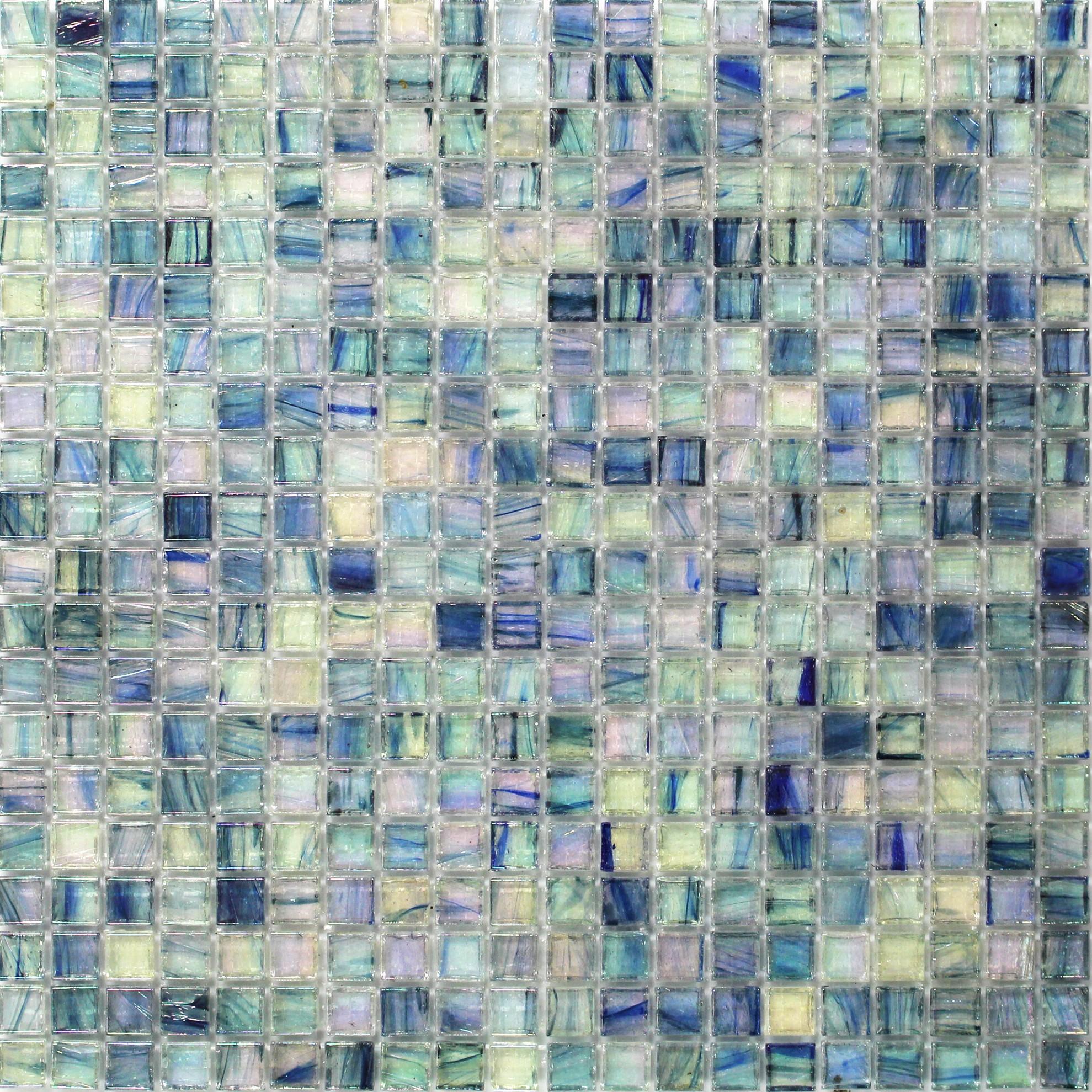 Celeste Harbor Fog Glass Tile