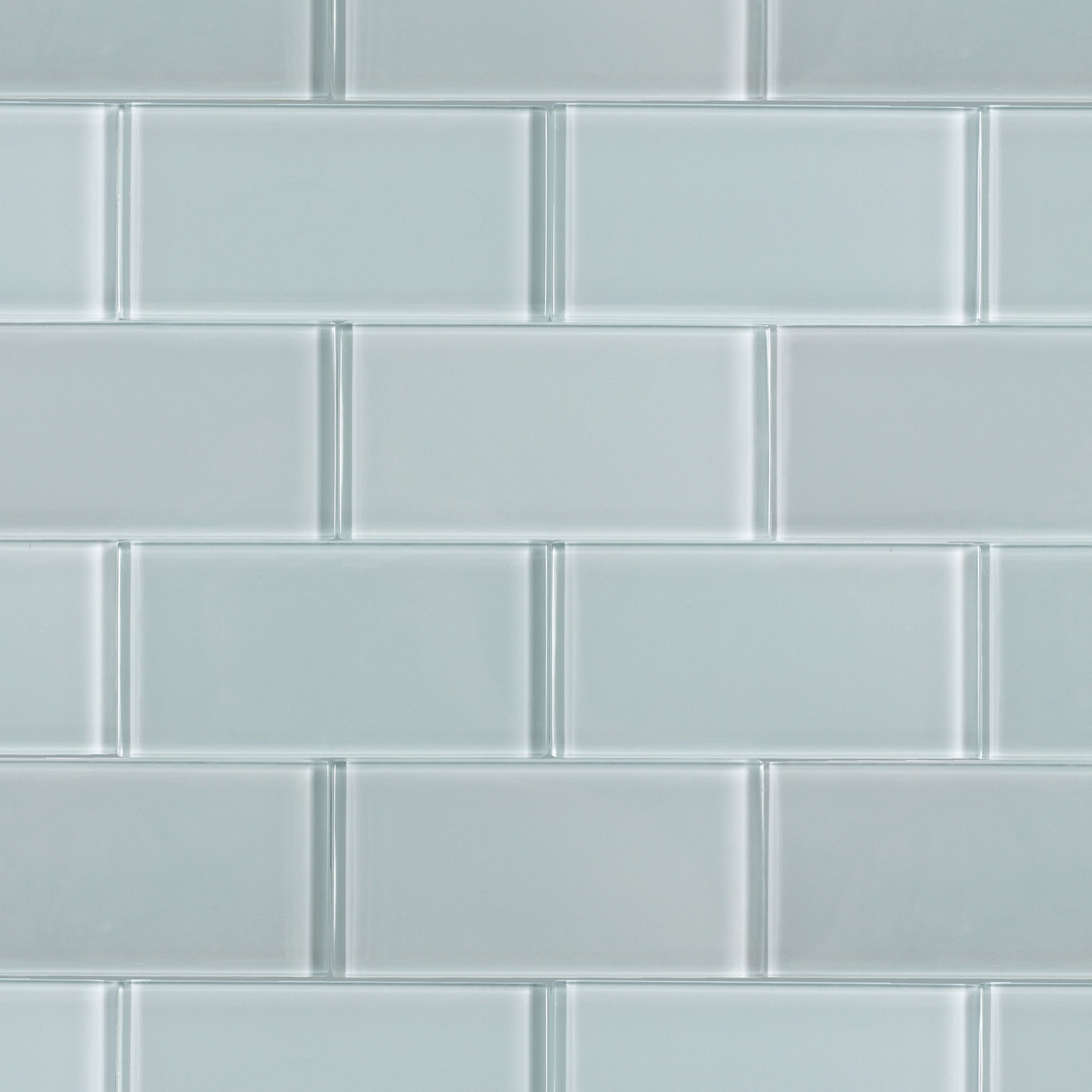 Loft Natural White Polished 3x6 Glass Tile