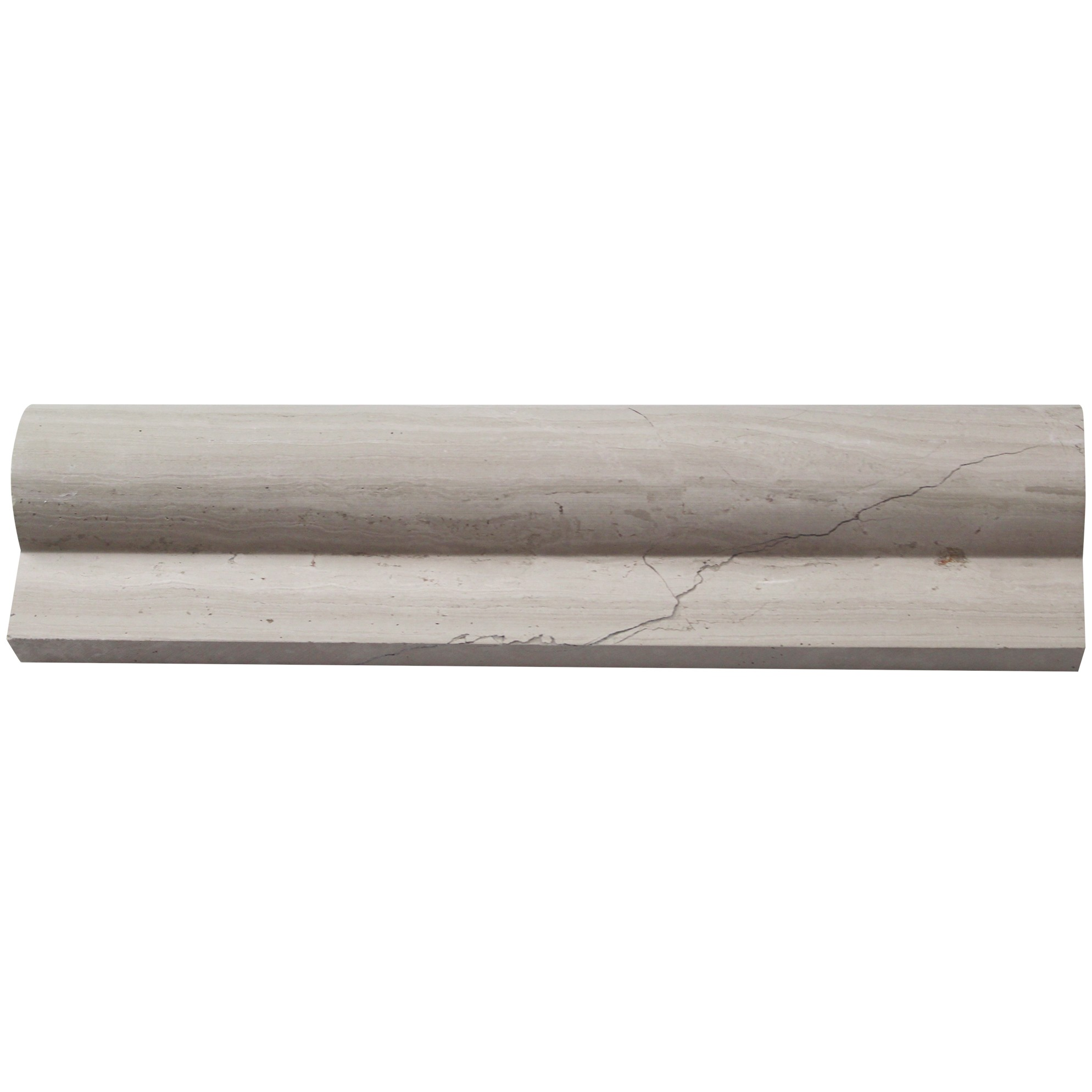 Brushed Stone Wooden Beige 2x8 Chair Rail Marble Liners