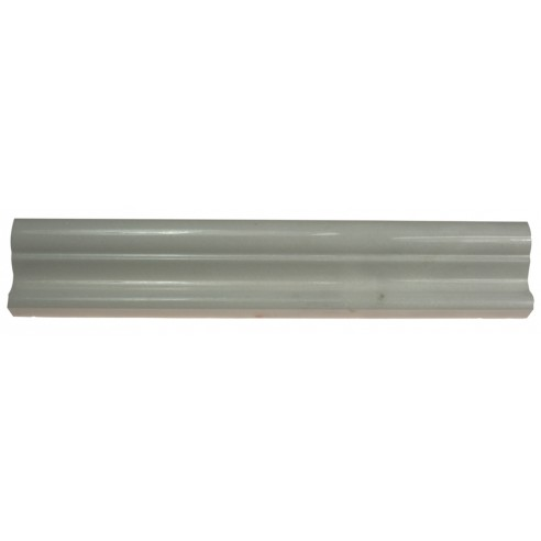 In Stock! Thassos Polished 1/2x12 Pencil Liner, White ... |Thassos Marble 2x12