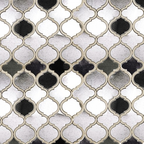Veranda Lunar Light Quartz And Mirror Tile
