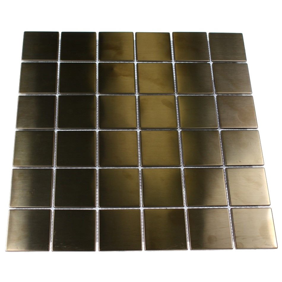 Shop 12x12 Metal Square Mosaic In Matte Copper Stainless