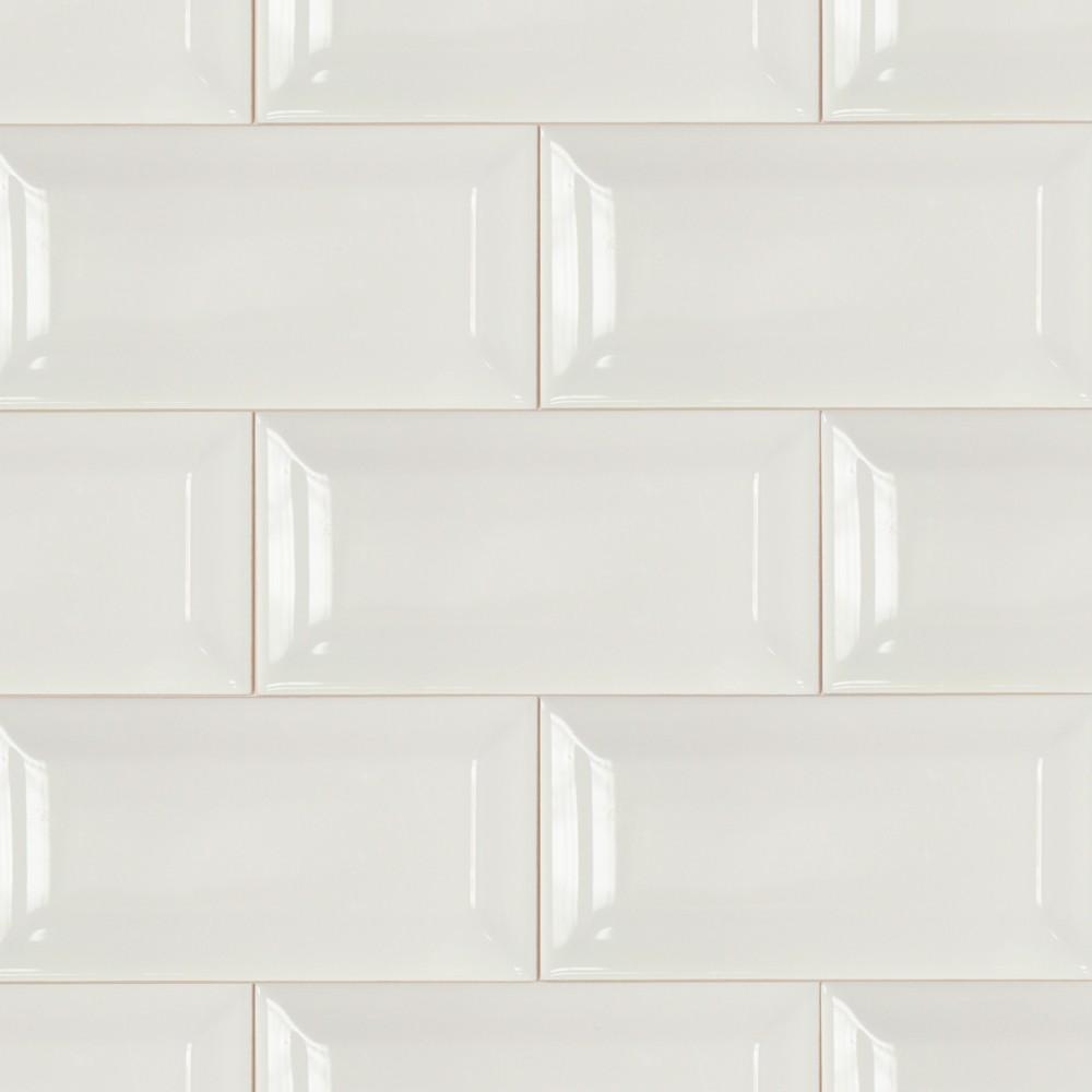 4x8 Subway Tile White Beveled Subway Tile