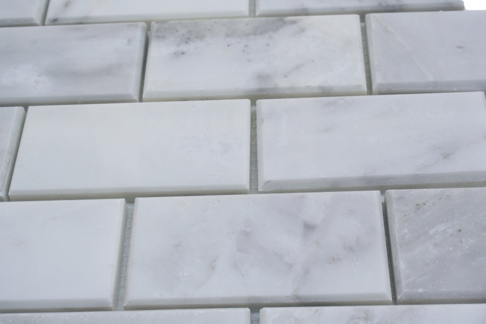 Asian Statuary Beveled 2x4 Marble Tile 2 Jpg