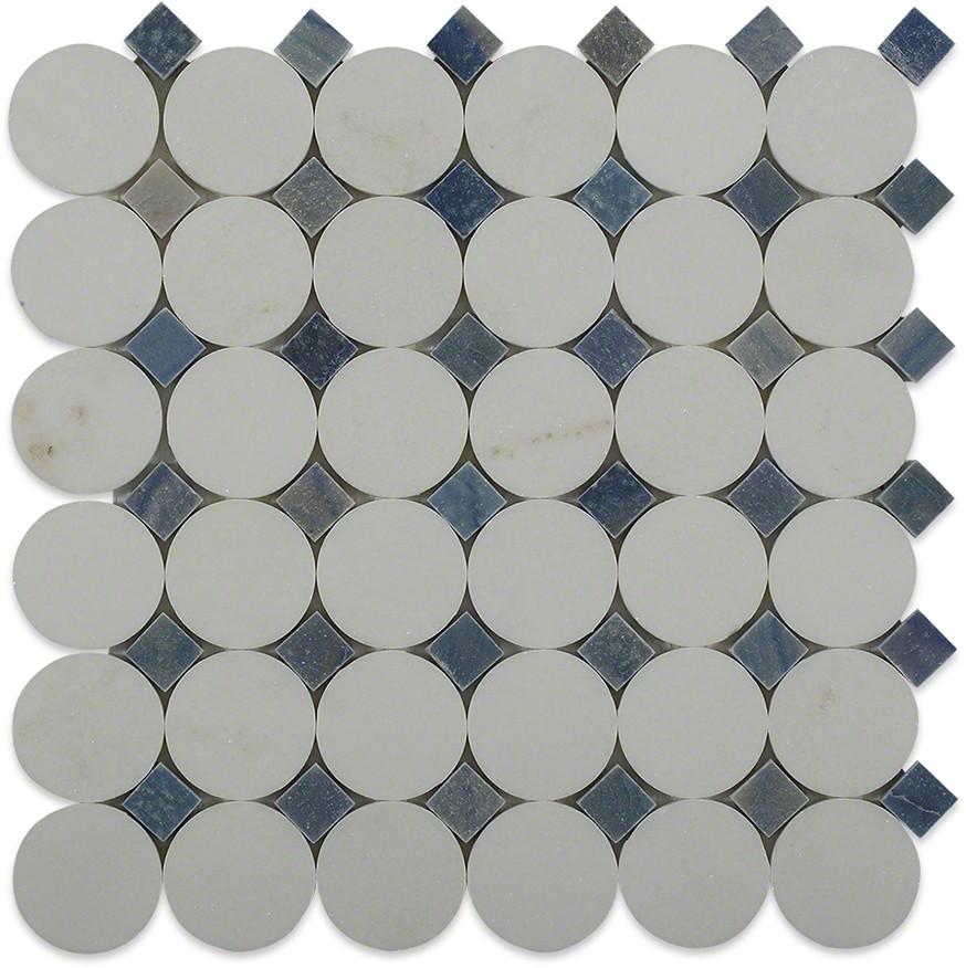 Shop For Kinetic Satellite Pattern Marble Tiles At Tilebar Com