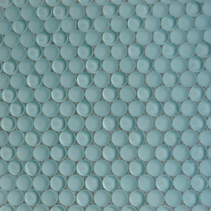 Penny Round Backsplash: Shop For Loft Adriatic Mist Penny Round Glass Tiles At