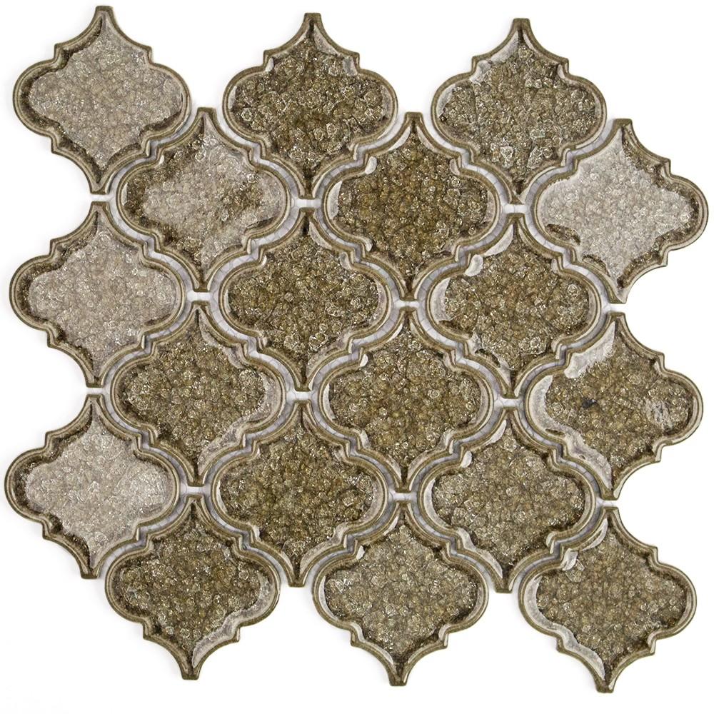 Roman Collection Spanish Olive Arabesque Glass Tile
