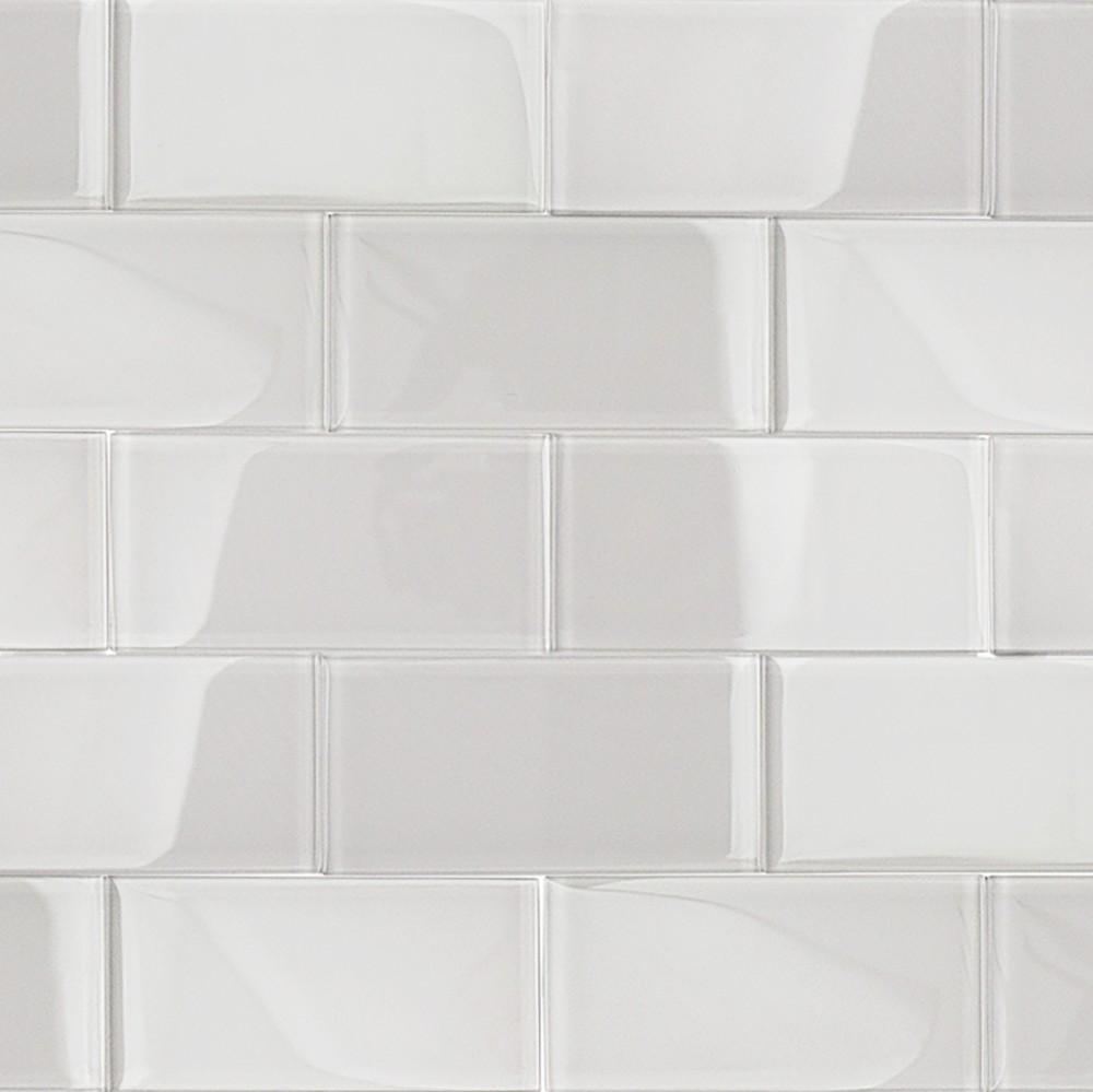 Shop For Loft Super White Polished 3 X 6 Glass Tiles At