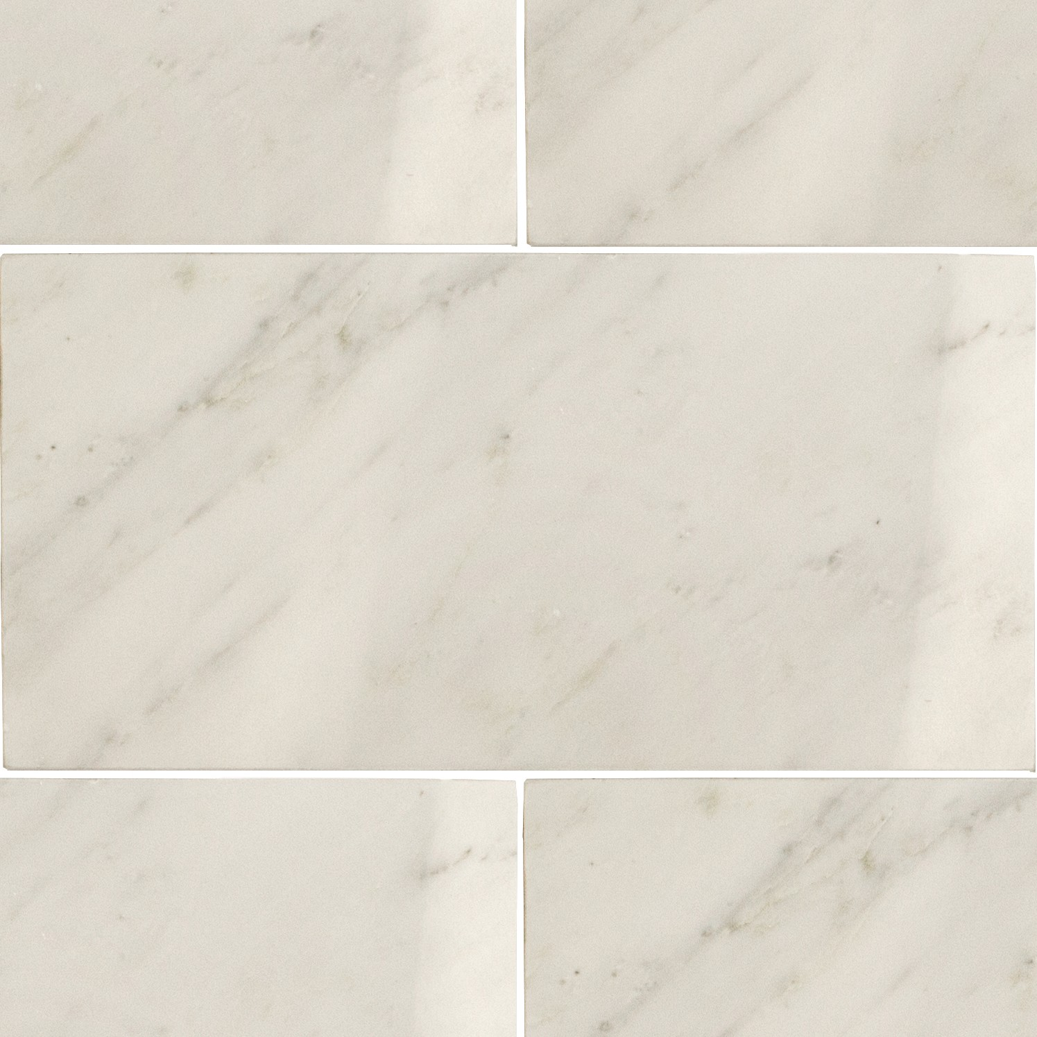 Asian Statuary 6x12 Marble Tile