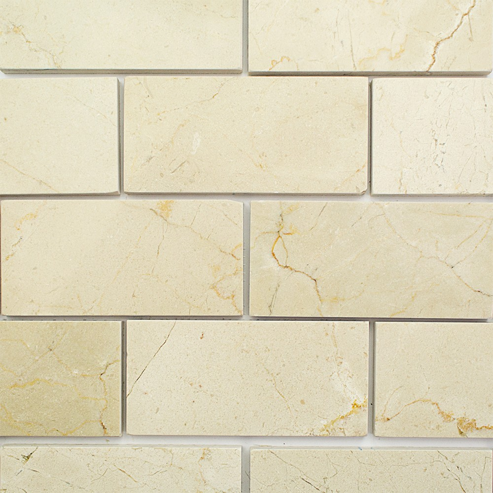 Shop 8 Pcs Sq Ft Crema Marfil 3 X 6 Polished Marble