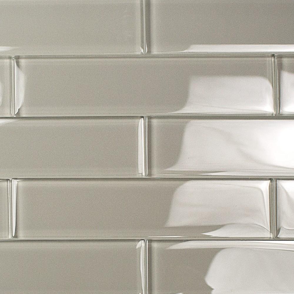 Shop For Loft Sage 2x8 Polished Glass Tiles At Tilebar Com