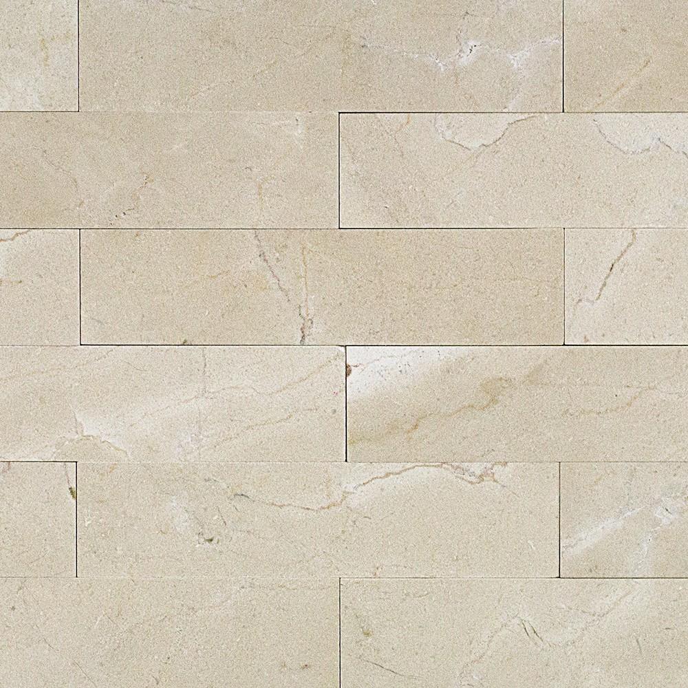 Shop 9 Pcs/sq. Ft. Crema Marfil 2x8 Brushed Stone Tile At