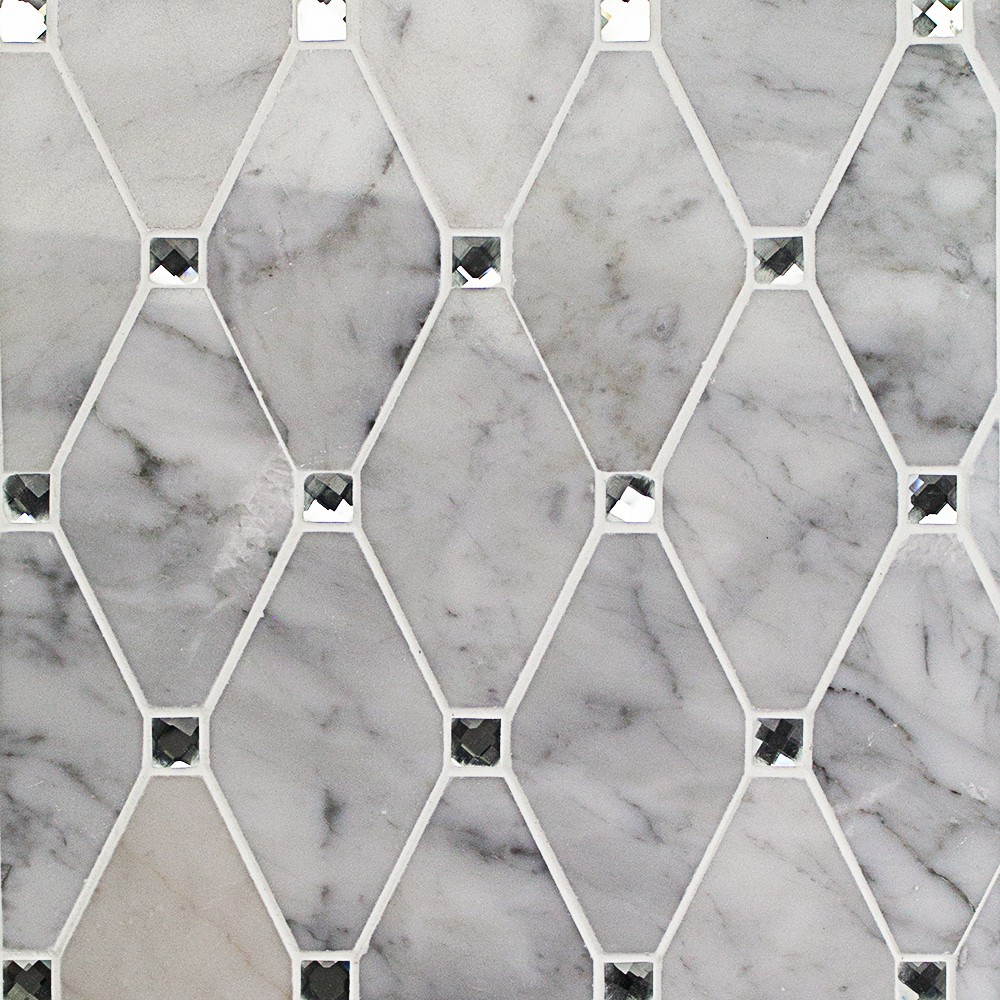 Reflection Diamond White Carrera And Mirror Marble And