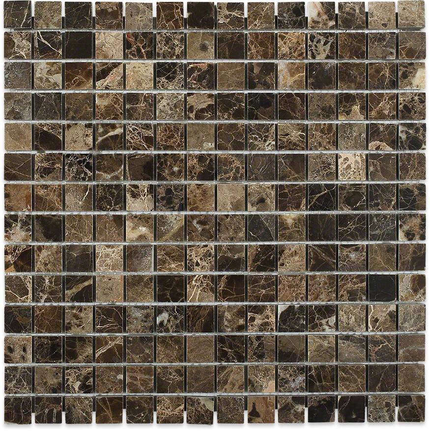 Dark Emperador 1x1 Marble Tile Tilebar Com